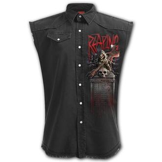 košile pánská bez rukávů (vesta) SPIRAL - REAPING TOUR - Black, SPIRAL