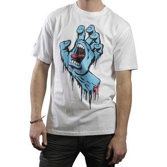 tričko pánské SANTA CRUZ - Screaming Hand - White