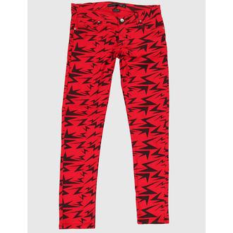 kalhoty dámské CRIMINAL DAMAGE - Red - CRD62
