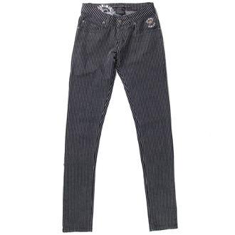 kalhoty dámské CRIMINAL DAMAGE - BLK/WHT - NS202