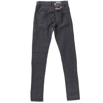 kalhoty dámské CRIMINAL DAMAGE - BLK/WHT