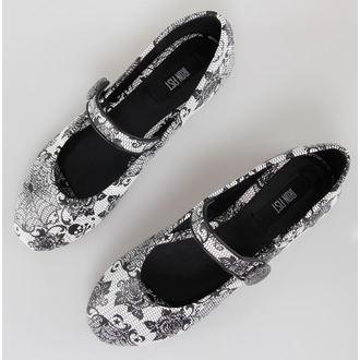 boty dámské (baleríny) IRON FIST - Midnight Widow - White, IRON FIST
