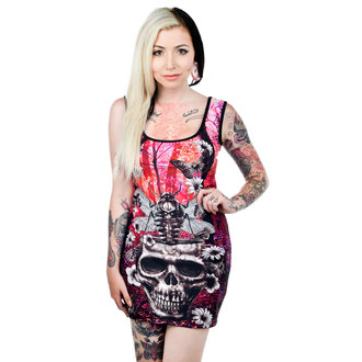 šaty dámské TOO FAST - Moth Skull - WDBE-T-MOTH