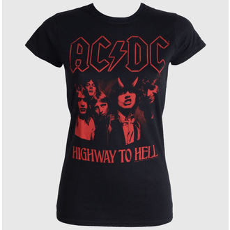 tričko dámské AC/DC - Highway To Hell Red - LIVE NATION, LIVE NATION, AC-DC