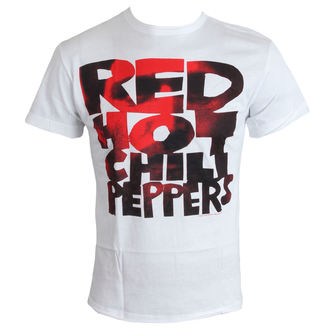 tričko pánské Red Hot Chilli Peppers - Type Face Fill - White - AMPLIFIED