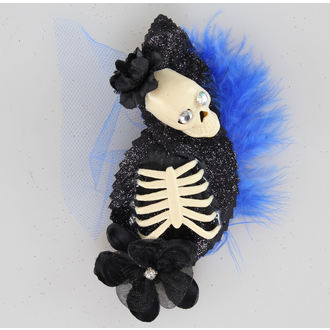 sponka do vlasů Skeleton Blue/Black