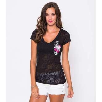 tričko dámské METAL MULISHA - Flowers Burnout - BLK