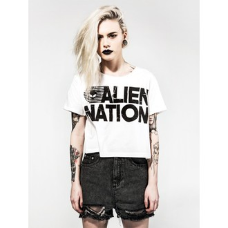 tričko dámské (top) DISTURBIA - Alien Nation - White, DISTURBIA
