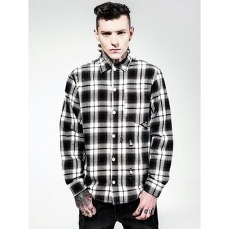košile pánská DISTURBIA - Aberdeen - BLK/Grey