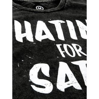 tričko pánské DISTURBIA - Hatin - Grey/BLK, DISTURBIA