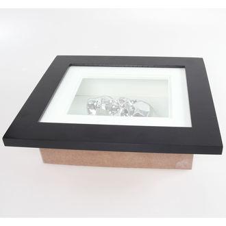 obraz Silver Skull In Frame - POŠKOZENÝ