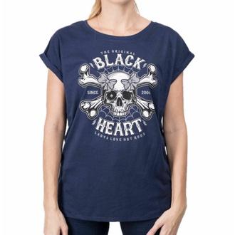 tričko dámské BLACK HEART - DEAD PIN UP - BLUE, BLACK HEART
