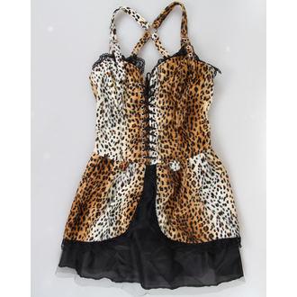 šaty dámské BLACK PISTOL - Punk - Leopard, BLACK PISTOL