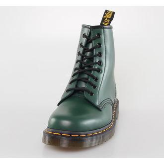 boty DR. MARTENS - 8 dírkové - 1460 - GREEN SMOOTH, Dr. Martens
