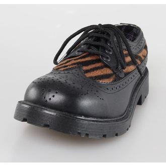 boty UNDERGROUND - Blk Leather/Capucino Zebrino