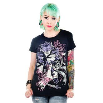 tričko dámské TOO FAST -  Black - WTSB-T-BATTY