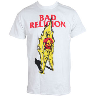 tričko pánské BAD RELIGION - Flame - WHITE - LIVE NATION - PE12157TS