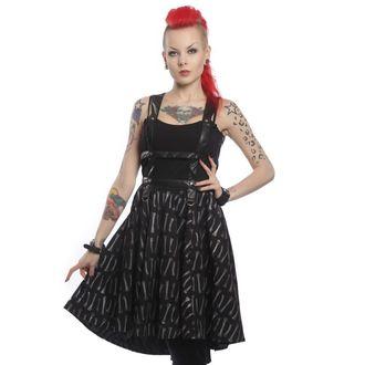 šaty dámské VIXXSIN - Bone Garden Srap - Black