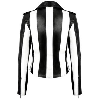bunda dámská (křivák) KILLSTAR - Beetlejuice - Black/White