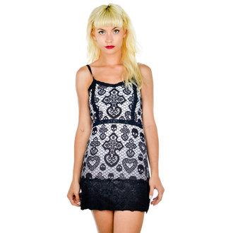 šaty dámské TOO FAST - Curse - Skull Lace - BLK