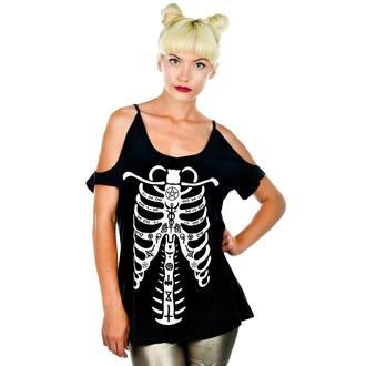 tričko dámské (top) TOO FAST - Damnation - Occult Bones - BLK