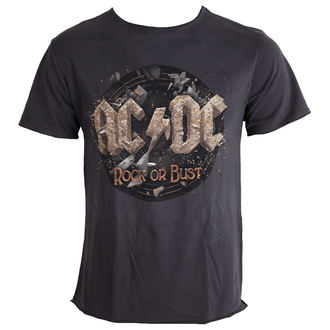 tričko pánské AC/DC - Rock Or Bust Tour - Charcoal - AMPLIFIED - AV210RKT