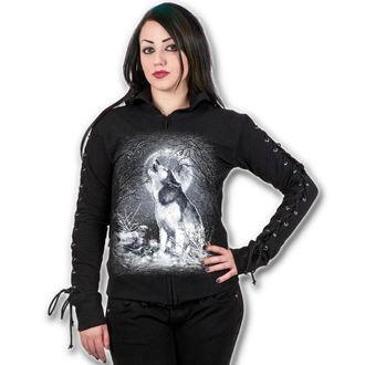 mikina dámská SPIRAL - White Wolf - Black, SPIRAL