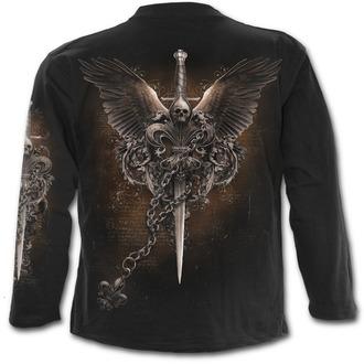 tričko pánské s dlouhým rukávem SPIRAL - Wings Freedom - Black - M014M301