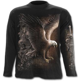 tričko pánské s dlouhým rukávem SPIRAL - Wings Freedom - Black
