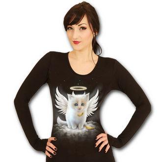 tričko dámské s dlouhým rukávem SPIRAL- Kitten Angel - Black