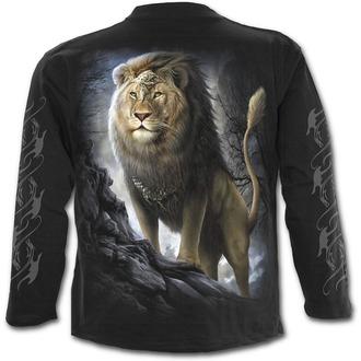 tričko pánské s dlouhým rukávem SPIRAL - Majestic - Black - L012M301