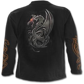tričko pánské s dlouhým rukávem SPIRAL - Dragon Slayer - Black - M017M301