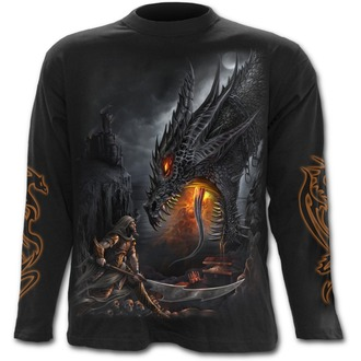 tričko pánské s dlouhým rukávem SPIRAL - Dragon Slayer - Black