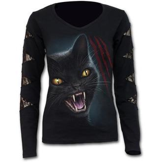tričko dámské s dlouhým rukávem SPIRAL - Feline Fury - M018F448