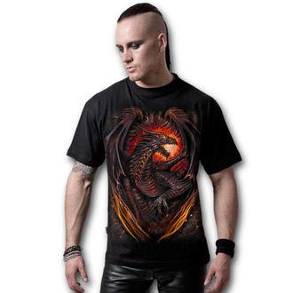 tričko pánské SPIRAL - Dragon Furnace - Black - L016M101