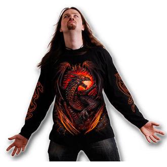 tričko pánské s dlouhým rukávem SPIRAL - Dragon Furnace - Black - L016M301