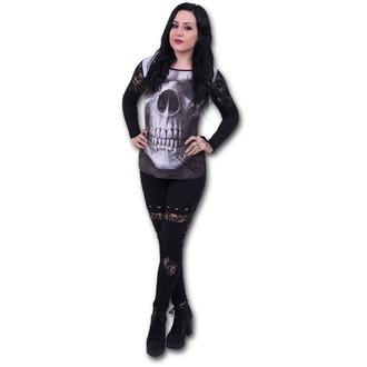 tričko dámské s dlouhým rukávem SPIRAL - Solemn Skull - Black - S012F449