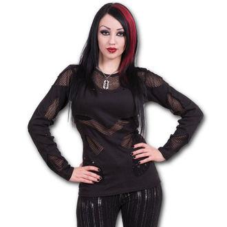 tričko dámské s dlouhým rukávem SPIRAL - Gothic Rock - Black - P002F446