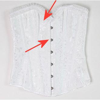 korzet dámský DRACULA CLOTHG - White - POŠKOZENÝ, DRACULA CLOTHING