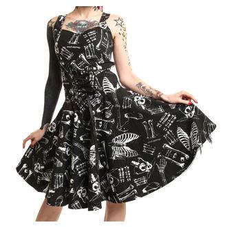 šaty dámské POIZEN INDUSTRIES - Anatomy - Black/White - POI336