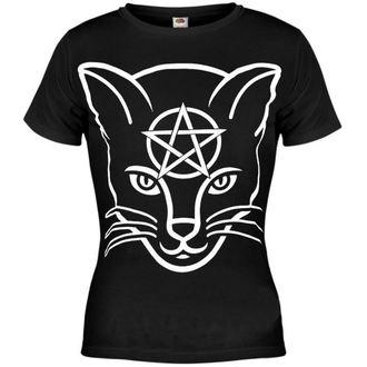 tričko dámské AMENOMEN - Head Cat - BLK - DOMEN029