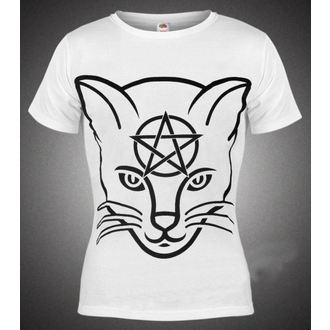 tričko dámské AMENOMEN - Head Cat - WHT - DOMEN029