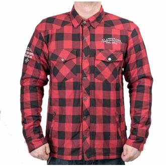 moto košile BLACK HEART - REGINALD T W-TEC - RED, BLACK HEART