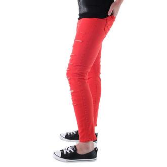 kalhoty dámské VANS - High Rise Back Zip Flame - Scarlet, VANS