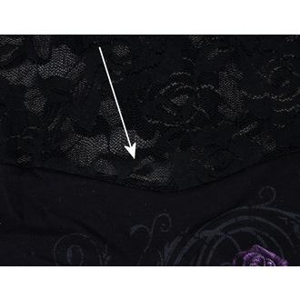 tričko dámské SPIRAL - Entwined - Lace Layered Viscos Blk - POŠKOZENÉ, SPIRAL