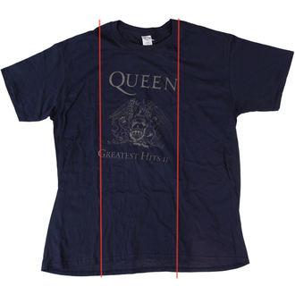 tričko pánské Queen - Greatest Hits II - Navy - BRAVADO EU - POŠKOZENÉ, BRAVADO EU, Queen