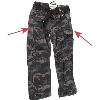 kalhoty pánské SURPLUS - Premium Vintage - Black Camo - POŠKOZENÉ