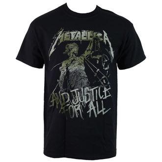 tričko pánské Metallica - Vintage Justice - RTMTLTSBJUS