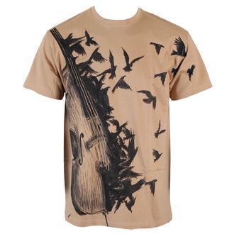 tričko pánské ALISTAR - Bass&Crows - Beige - ALI163