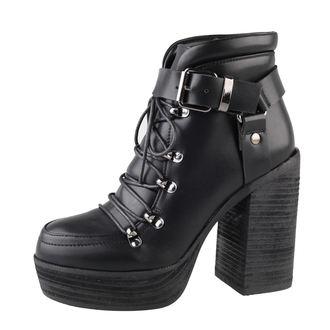 boty dámské BANNED - Platform Buckle - Black